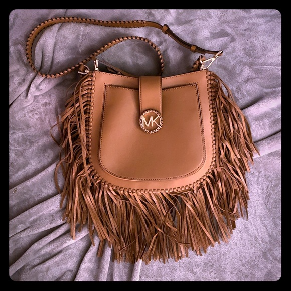 36454e2e679eab Michael Kors Lillie Medium Fringed Shoulder Bag. M_5c1adaa845c8b3c266634ab6